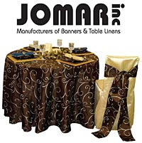 Jomar, Inc:Manufacturers of banners and table linens